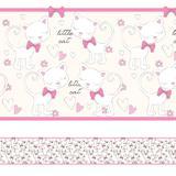 Faixa Decorativa para Quarto de Menina Gatinhos 10mx10cm - Quartinhos