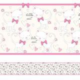 Faixa Decorativa para Quarto de Menina Gatinhos 5mx10cm - Quartinhos