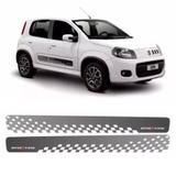 Faixa Lateral Fiat Uno Sporting 2013/ Adesivo Grafite - Sportinox