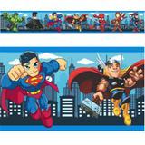 Faixas Border Super Herois Baby Criança Modelo 02 - 5 metros - Mundo dos adesivos
