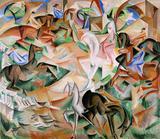 Fantasia Equestre - Alice Bailly - Tela 30x34 Para Quadro - Santhatela