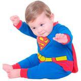 Fantasia Super Homem Bebê Longa Com Capa 3 a 12 meses - Sulamericana