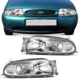 Farol Fiesta 1996 1997 1998 1999 Courier 1997 1998 1999 Pisca Cristal Foco Duplo - Prime