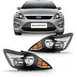 Farol Ford Focus 2009 2010 2011 2012 2013 Máscara Negra - Sp acessórios