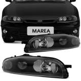 Farol Marea 1998 a 2007 Brava 1999 a 2003 Máscara Negra Foco Duplo Pisca Embutido - Prime