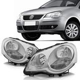 Farol polo cromado 2007 2008 2009 2010 2011 2012 - Volkswagen