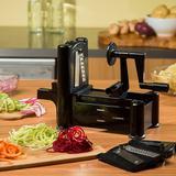 Fatiador espiral cortador ralador spiralizer com 3 laminas para fazer macarrao de legumes e vegetais - Gimp