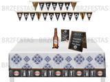 Festa De Boteco * Kit Decoração * Faixa + Toalha + Display de Mesa - Festcolor