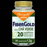 Fibergold 20 Sabor Chá Verde - 90 Comprimidos 1,2g - Nutrigold