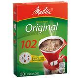 Filtro de papel para café n102 com 30 unidades melitta