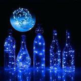 Fio Luz Fada Rolha Garrafa 20 Lâmpada Led 2 Metros Azul - Coisaria