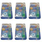 Fiodent Dentlimp Fio Dental 50m + Escova Dental P/ Viagem Macia (Kit C/06)