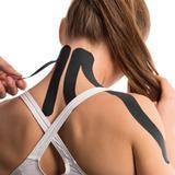 Fita Kinesio Muscle Fix 5x25cm Pré Cortada Preta - Atrio Multilaser - HC137