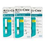 Fitas Para Glicemia 150 Unidades Accu Chek Active - Roche