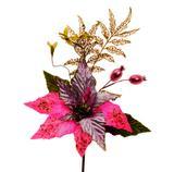 Flor cabo curto rosa c/6 Und: 1212485 - Cromus