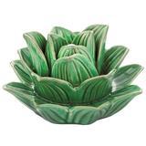 Flor em Cerâmica Verde - Mart
