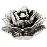 Flor Prata Em Cerâmica - Mart
