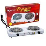 Fogareiro Fogão Elétrico 2 Boca 5 Temperaturas 2000W 127V - Relinx