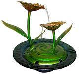 Fonte De Agua Cascata Decorativa De Metal Flores Amarelas para Jardim e Casa (FT-R) - Braslu