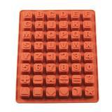 Forma de Silicone Alfabeto - Letras e Números - Carisma