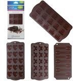 Forma de silicone para chocolate com cavidades sortidas 21x10,5cm - Paramount