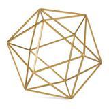 Forma Geométrica Dourada de Metal 19cm 9450 Mart