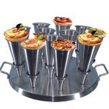 Forma Redonda Aluminio Para Pizza Cone 12cm com 12cones - Gastrobel