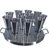 Forma Redonda Aluminio Para Pizza Cone 14cm com 12cones - Gastrobel