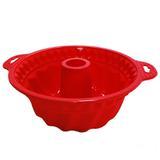 Forma redonda com centro silicone vermelho / niazitex