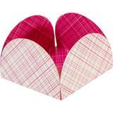 Forminha 4 Petalas Pink Xadrez - Atacadão das lembranças