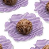 Forminha Flor de Seda Listra Lilás 40 unidades Decorart