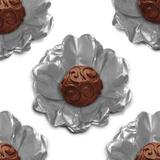 Forminha Flor de Seda Prata 40 unidades Decorart