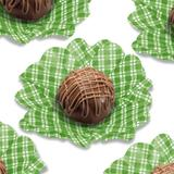 Forminha Flor de Seda Xadrez Verde 40 unidades Decorart
