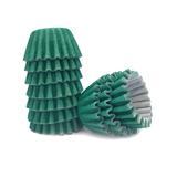 Forminha para Doces Lisa Verde Escuro No 5 c/100 - Flopel