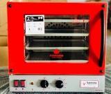 Forno Elétrico Turbo de Convecção Inox - Vermelho com 4 bandejas removíveis - Santeq