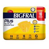 Fralda Adulta Bigfral Plus G - 16 Unidades