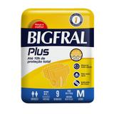 Fralda Adulta Bigfral Plus M - 9 Unidades