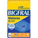 Fralda Bigfral Geriátrica Noturna Tamanho G com 7 unidades - Hypermarcas