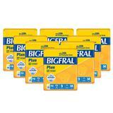 Fralda Bigfral Plus Media Combo Fardo Com 8 Pacotes