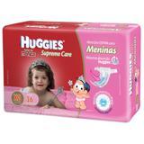 Fralda descartável huggies supreme care feminina extra grande 16 unidades