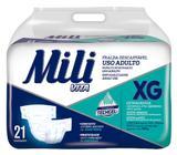 Fralda Geriatrica Adulto Mili Vita Tam XG   21 Fraldas com Gel Super Absorvente Conforto e Proteção
