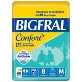Fralda Geriátrica Bigfral Confort M Com 8 Unidades