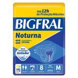 Fralda Geriátrica Bigfral Noturna M Com 8 Unidades