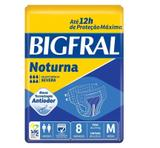 Fralda Geriátrica Bigfral Noturna M - Com 8 Unidades