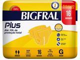 Fralda Geriátrica Bigfral Plus G - 16 Unidades