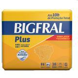 Fralda geriatrica bigfral plus g 4 pct.c/16 cxf