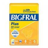 Fralda Geriátrica Bigfral Plus G com 8 Unidades - União