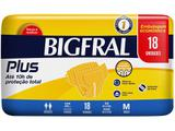 Fralda Geriatrica Bigfral Plus M - 18 Unidades