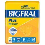 Fralda geriatrica bigfral plus m c/9