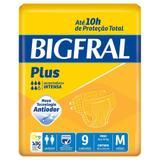 Fralda Geriátrica Bigfral Plus M com 9 Unidades - União